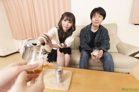 [VR] 夫の目の前で妻が ~お酒を飲むとなんだか変になってきちゃうんですよね~ 小泉真希