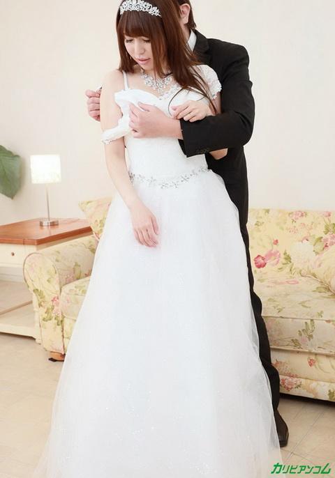 押しに弱い花嫁 〜ドレスの担当者と挙式前夜に中出しNTR〜 紗倉みゆき